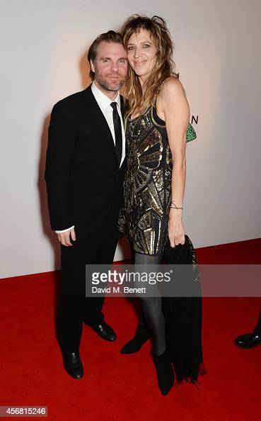 Ben Latham Jones and Martha Fiennes attend the BFI London Film Festival IWC Gala Dinner in honour of the BFI at Battersea Evolution Marquee on...