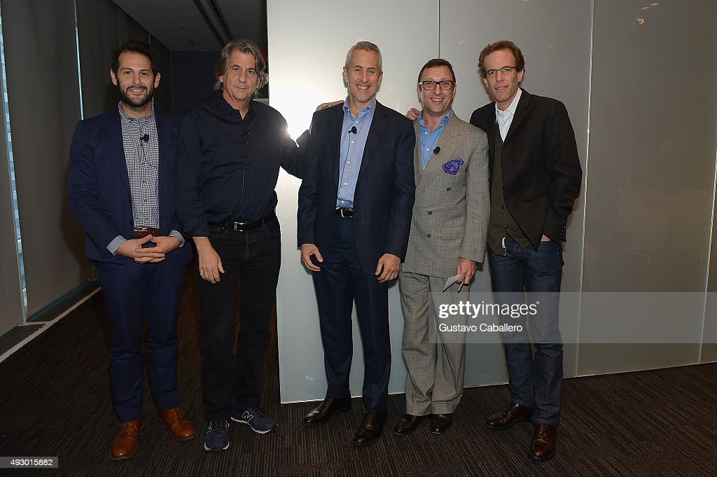 Ben Leventhal David Rockwell Danny Meyer Peter Elliot and Dan Barber attend FOODi The Future Of Food Business In Cooperation With Bloomberg LP And...