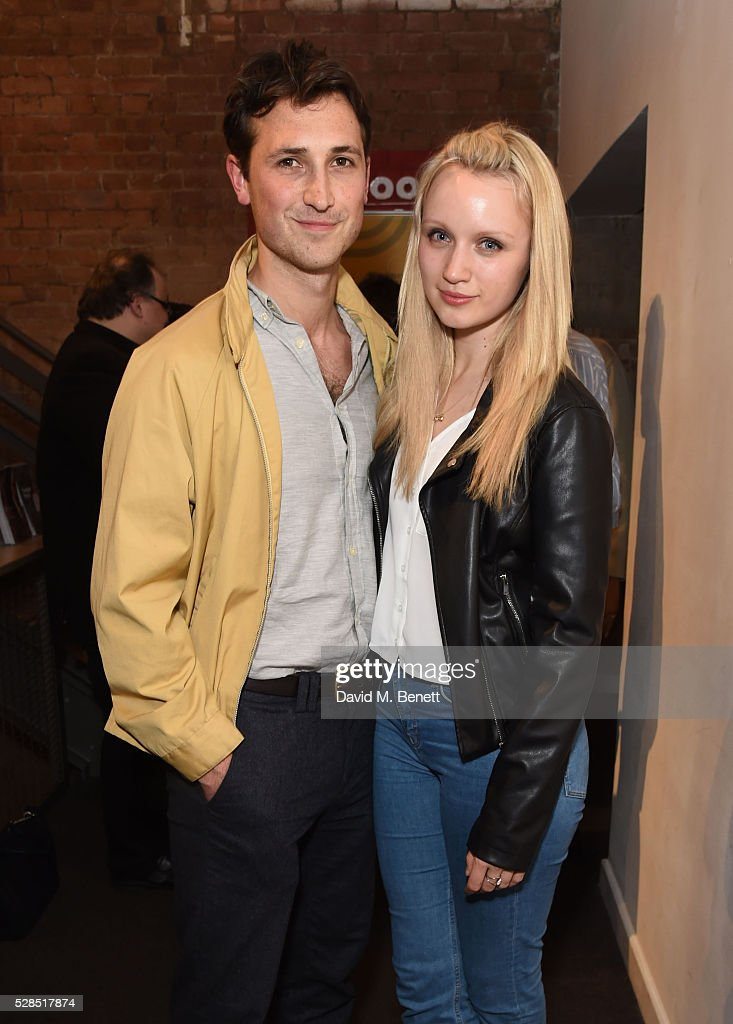 Ben Lloyd-Hughes and Emily Berrington attend the World Premiere press night performance of 'The Buskers Opera' at The Park Theatre on May 5, 2016 in London, England.