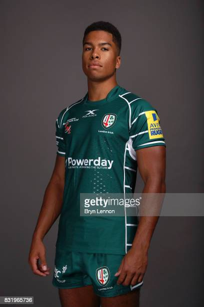 Ben Loader of London Irish poses for a portrait during the London Irish squad photo call for the 20172018 Aviva Premiership Rugby season on August 14...