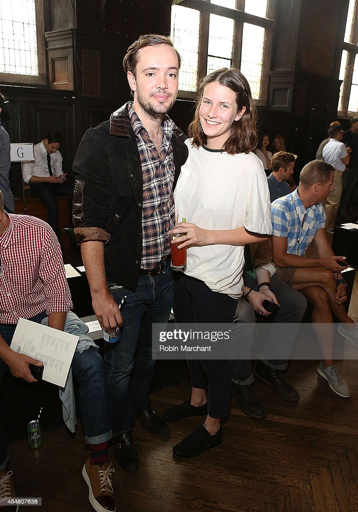 <a gi-track='captionPersonalityLinkClicked' href=/galleries/search?phrase=Ben+Lovett&family=editorial&specificpeople=3039181 ng-click='$event.stopPropagation()'>Ben Lovett</a> (L) and Jemima Janney attend Billy Reid during Mercedes-Benz Fashion Week Spring 2015 at The Highline Hotel on September 6, 2014 in New York City.