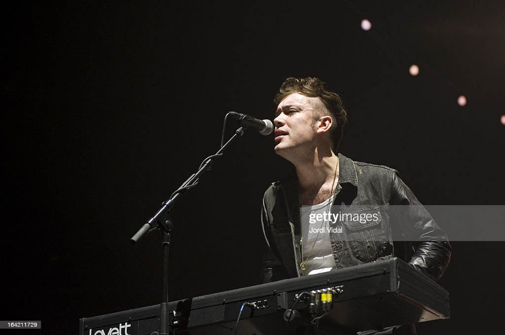 Ben Lovett of Mumford and Sons performs on stage in concert at Razzmatazz on March 20, 2013 in Barcelona, Spain.