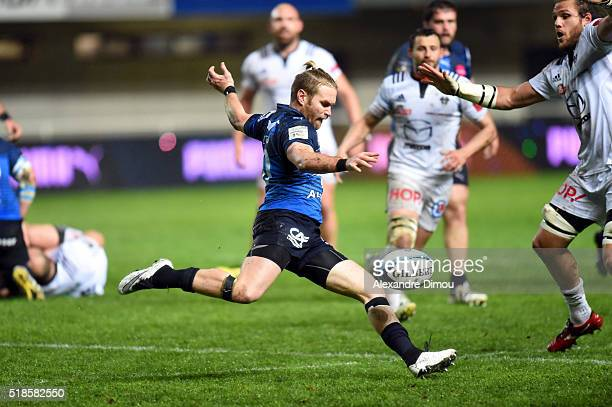 Ben Lucas during the French Top 14 rugby union match between Montpellier v Brive on April 1 2016 in Montpellier France
