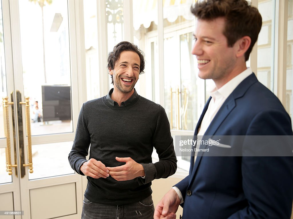 Ben Lyons interviews actor Adrien Brody at the Stella Artois and Glacier Films Event during the 67th Annual Cannes Film Festival at the Carlton Hotel...