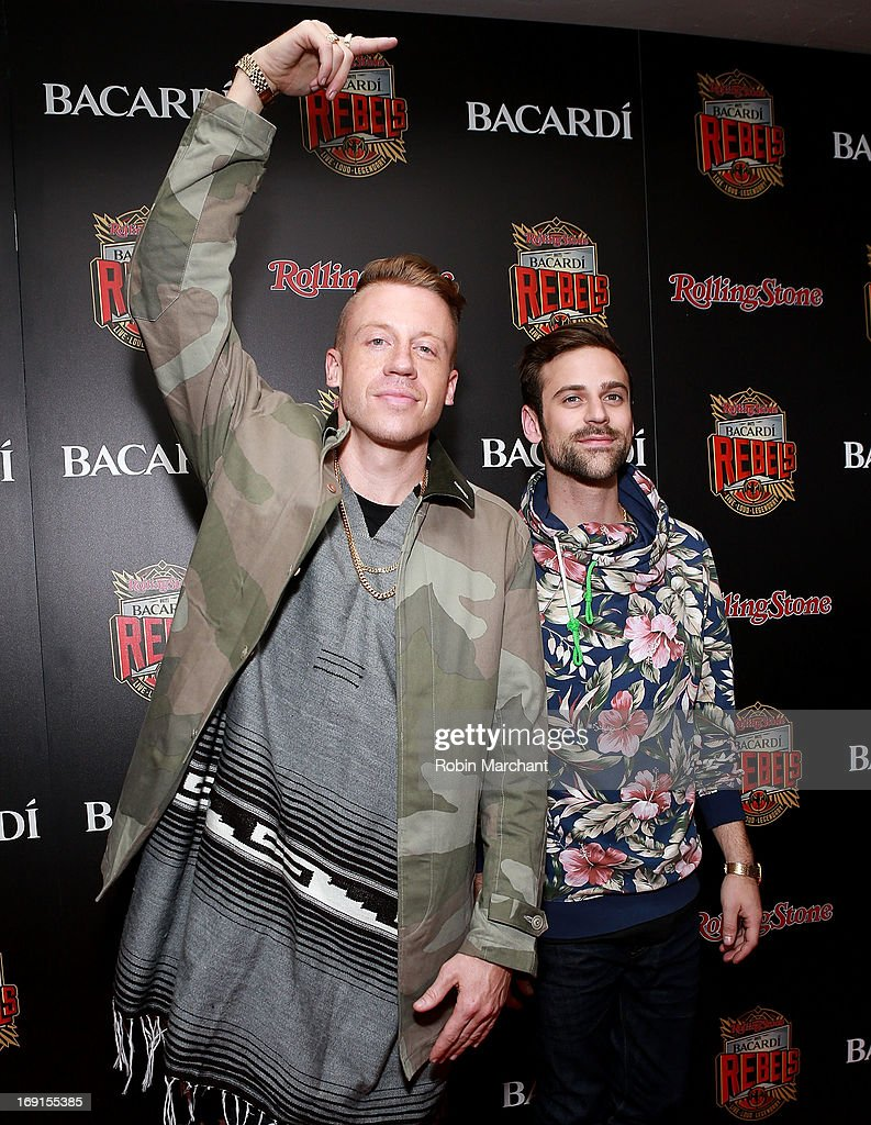 Ben '<a gi-track='captionPersonalityLinkClicked' href=/galleries/search?phrase=Macklemore&family=editorial&specificpeople=7639427 ng-click='$event.stopPropagation()'>Macklemore</a>' Haggerty (L) and Ryan Lewis attend Inaugural Bacardi Rebels event hosted by Rolling Stone at Roseland Ballroom on May 20, 2013 in New York City.