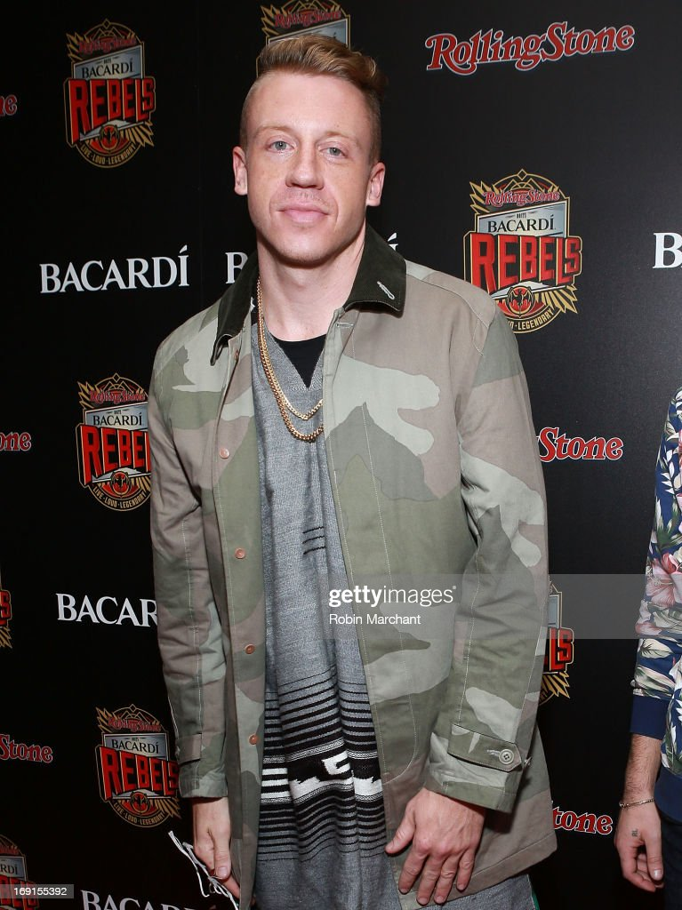Ben '<a gi-track='captionPersonalityLinkClicked' href=/galleries/search?phrase=Macklemore&family=editorial&specificpeople=7639427 ng-click='$event.stopPropagation()'>Macklemore</a>' Haggerty attends Inaugural Bacardi Rebels event hosted by Rolling Stone at Roseland Ballroom on May 20, 2013 in New York City.