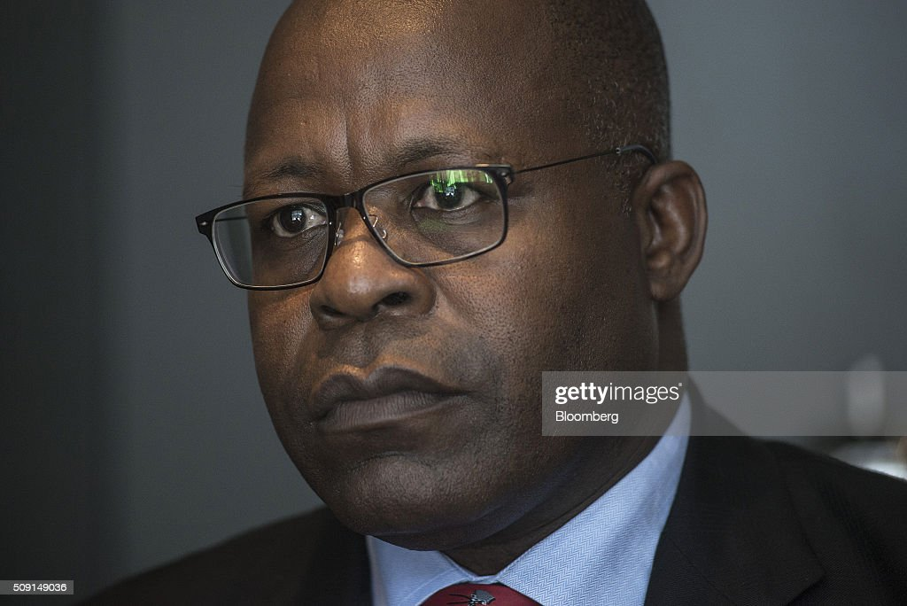 Ben Magara, chief executive officer of Lonmin Plc, pauses during an interview on the second day of the Investing in African Mining Indaba in Cape Town, South Africa, on Tuesday, Feb. 9, 2016. With many miners battling to stay afloat, fewer are willing to shell out 1,140 pounds ($1,641) for the Investing in African Mining Indaba conference in South Africa and business-class airfare. Photographer: Waldo Swiegers/Bloomberg via Getty Images
