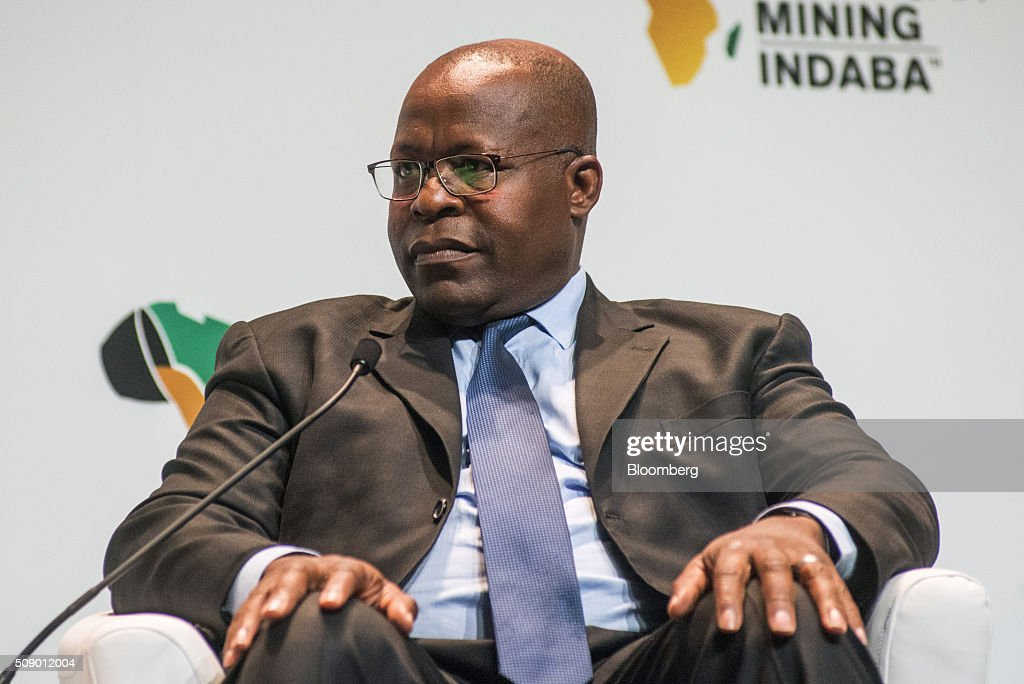 Ben Magara, chief executive officer of Lonmin Plc, pauses while speaking on the opening day of the Investing in African Mining Indaba in Cape Town, South Africa, on Monday, Feb. 8, 2016. With many miners battling to stay afloat, fewer are willing to shell out 1,140 pounds ($1,641) for the Investing in African Mining Indaba conference in South Africa and business-class airfare. Photographer: Waldo Swiegers/Bloomberg via Getty Images