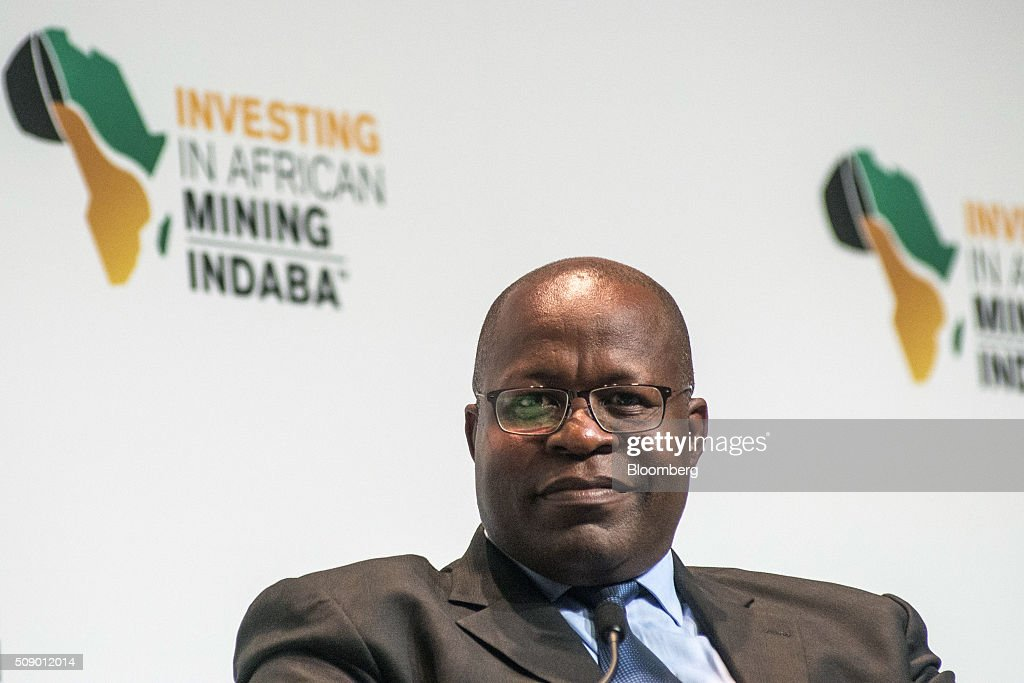 Ben Magara, chief executive officer of Lonmin Plc, pauses whilst speaking on on the opening day of the Investing in African Mining Indaba in Cape Town, South Africa, on Monday, Feb. 8, 2016. With many miners battling to stay afloat, fewer are willing to shell out 1,140 pounds ($1,641) for the Investing in African Mining Indaba conference in South Africa and business-class airfare. Photographer: Waldo Swiegers/Bloomberg via Getty Images