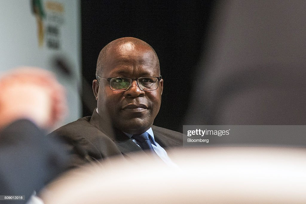 Ben Magara, chief executive officer of Lonmin Plc, pauses whilst speaking on the opening day of the Investing in African Mining Indaba in Cape Town, South Africa, on Monday, Feb. 8, 2016. With many miners battling to stay afloat, fewer are willing to shell out 1,140 pounds ($1,641) for the Investing in African Mining Indaba conference in South Africa and business-class airfare. Photographer: Waldo Swiegers/Bloomberg via Getty Images