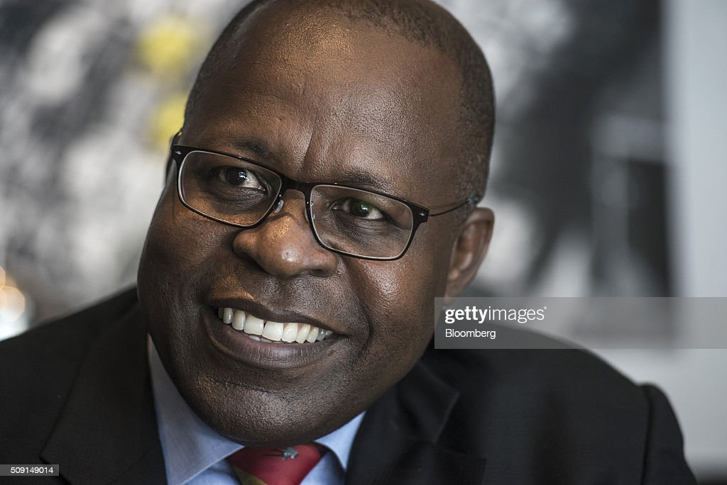 Ben Magara, chief executive officer of Lonmin Plc, reacts during an interview on the second day of the Investing in African Mining Indaba in Cape Town, South Africa, on Tuesday, Feb. 9, 2016. With many miners battling to stay afloat, fewer are willing to shell out 1,140 pounds ($1,641) for the Investing in African Mining Indaba conference in South Africa and business-class airfare. Photographer: Waldo Swiegers/Bloomberg via Getty Images