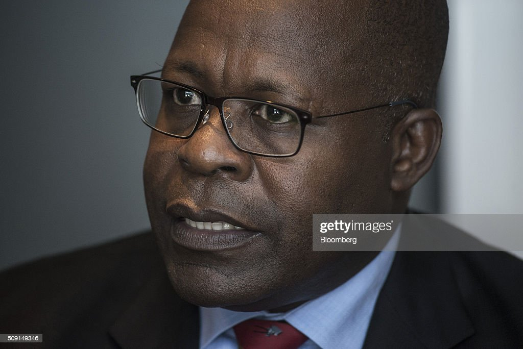 Ben Magara, chief executive officer of Lonmin Plc, speaks during an interview on the second day of the Investing in African Mining Indaba in Cape Town, South Africa, on Tuesday, Feb. 9, 2016. With many miners battling to stay afloat, fewer are willing to shell out 1,140 pounds ($1,641) for the Investing in African Mining Indaba conference in South Africa and business-class airfare. Photographer: Waldo Swiegers/Bloomberg via Getty Images
