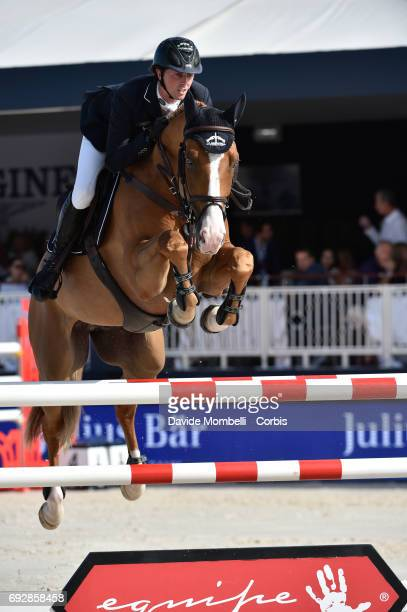 Ben Maher of England riding Don Vito during the Longines Grand Prix Athina Onassis Horse Show on June 3 2017 in St Tropez France