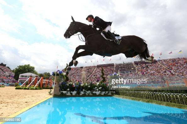 Ben Maher of Great Britain riding Tripple X in the Individual Jumping on Day 12 of the London 2012 Olympic Games at Greenwich Park on August 8 2012...