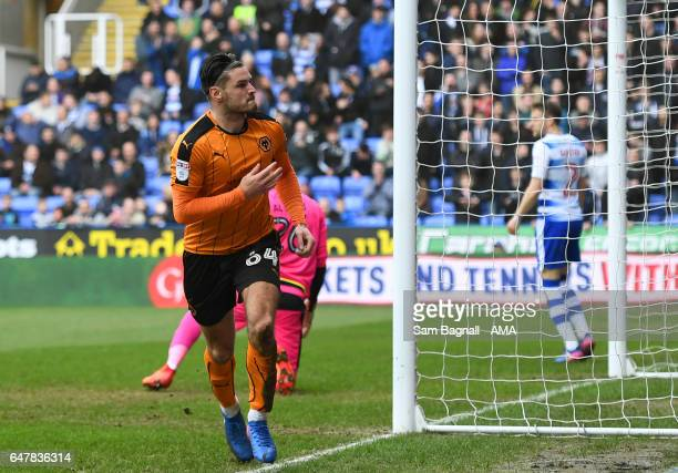 Ben Marshall of Wolverhampton Wanderers celebrates after scoring a goal to make it 11 during the Sky Bet Championship match between Reading and...