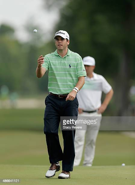 Ben Martin chips in for eagle on the 11th during Round Two of the Zurich Classic of New Orleans at TPC Louisiana on April 25 2014 in Avondale...