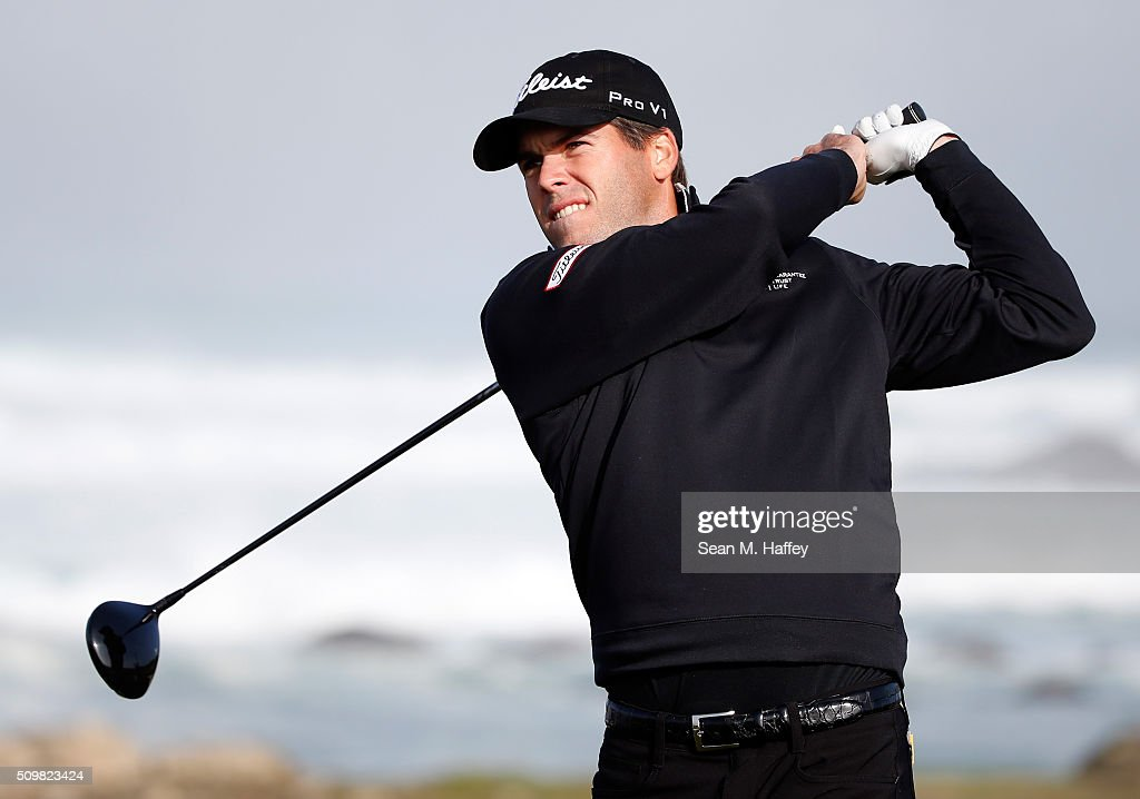 <a gi-track='captionPersonalityLinkClicked' href=/galleries/search?phrase=Ben+Martin+-+Golfer&family=editorial&specificpeople=12769070 ng-click='$event.stopPropagation()'>Ben Martin</a> plays his tee shot on the 13th hole during the second round of the AT&T Pebble Beach National Pro-Am at the Monterey Peninsula Country Club (Shore Course) on February 12, 2016 in Pebble Beach, California.