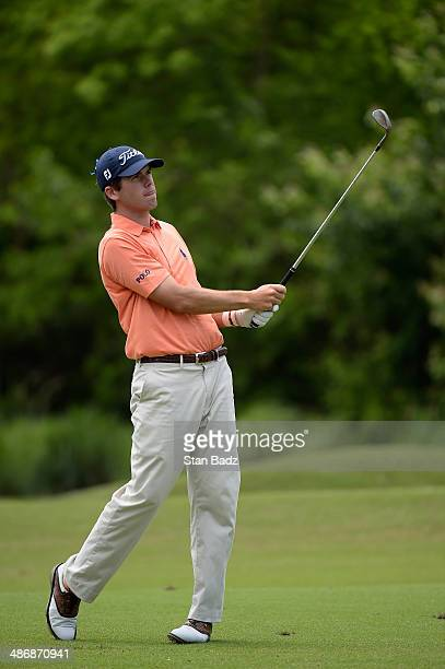 Ben Martin second shot on the 5th during Round Three of the Zurich Classic of New Orleans at TPC Louisiana on April 26 2014 in Avondale Louisiana