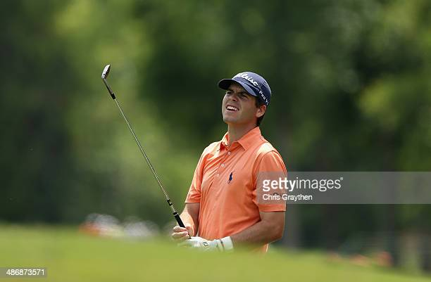 Ben Martin takes his shot on the 8th during Round Three of the Zurich Classic of New Orleans at TPC Louisiana on April 26 2014 in Avondale Louisiana