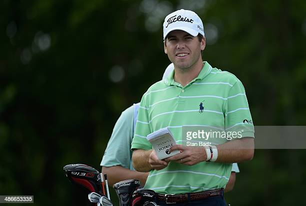 Ben Martin takes prepares to tee off on the 18th during Round Two of the Zurich Classic of New Orleans at TPC Louisiana on April 25 2014 in Avondale...