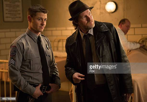 Ben McKenzie and Donal Logue in the 'Rogues' Gallery' episode of GOTHAM airing Monday Jan 5 2015 on FOX