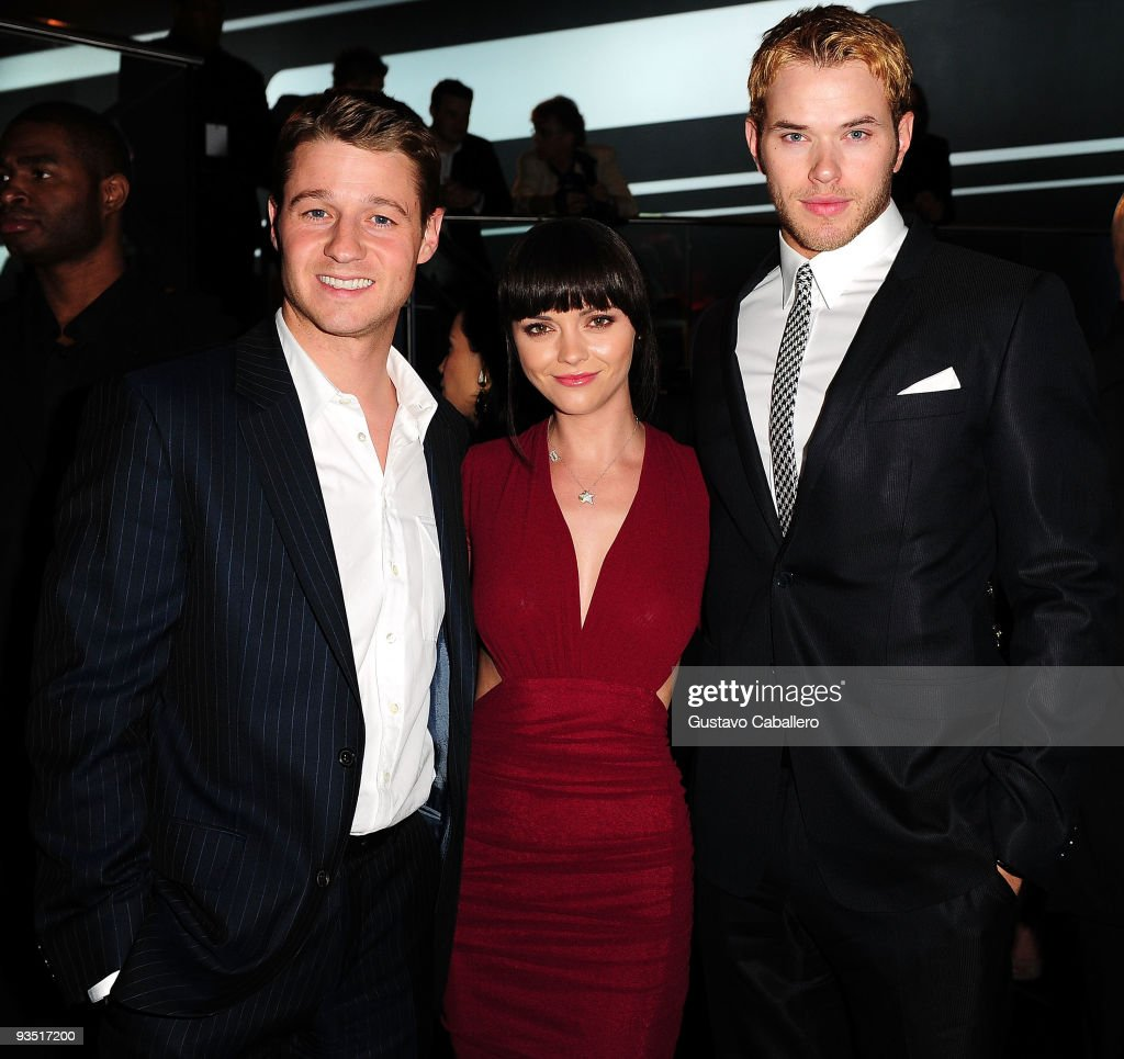 Ben McKenzie, Christina Ricci and Kellan Lutz attends 'The Art of Progress' world premiere of the new Audi A8 at the Audi Pavilion on November 30, 2009 in Miami, Florida.