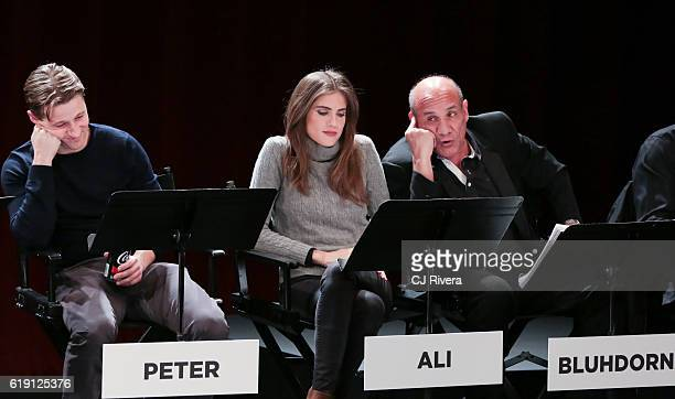 Ben McKenzie Rachel Brosnahan and Paul BenVictor performs at the Black List Live Presents I Believe in America at SVA Theater on October 29 2016 in...