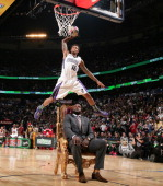 Ben McLemore during the Sprite Slam Dunk Contest on State Farm AllStar Saturday Night as part of the 2014 AllStar Weekend at Smoothie King Center on...