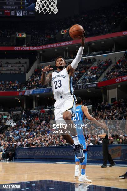 Ben McLemore of the Memphis Grizzlies goes to the basket against the Oklahoma City Thunder on December 9 2017 at FedExForum in Memphis Tennessee NOTE...