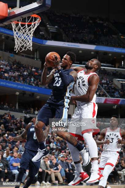Ben McLemore of the Memphis Grizzlies handles the ball against the Toronto Raptors on December 8 2017 at FedExForum in Memphis Tennessee NOTE TO USER...