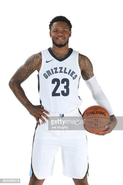 Ben McLemore of the Memphis Grizzlies poses for a portrait during Memphis Grizzlies Media Day on September 25 2017 at FedExForum in Memphis Tennessee...