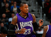 Ben McLemore of the Sacramento Kings against the Atlanta Hawks at Philips Arena on November 18 2015 in Atlanta Georgia NOTE TO USER User expressly...