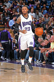 Ben McLemore of the Sacramento Kings brings the ball up the court against the Washington Wizards on March 30 2016 at Sleep Train Arena in Sacramento...