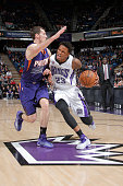 Ben McLemore of the Sacramento Kings drives to the basket against the Phoenix Suns on February 8 2015 at Sleep Train Arena in Sacramento California...