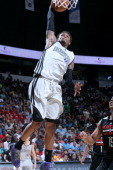 Ben McLemore of the Sacramento Kings dunks against the Houston Rockets during the Samsung NBA Summer League 2014 on July 21 2014 at the Thomas Mack...