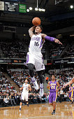 Ben McLemore of the Sacramento Kings dunks against the Los Angeles Lakers on December 6 2013 at Sleep Train Arena in Sacramento California NOTE TO...
