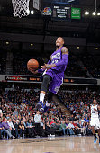 Ben McLemore of the Sacramento Kings dunks against the Memphis Grizzlies on February 25 2015 at Sleep Train Arena in Sacramento California NOTE TO...