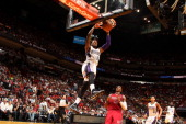 Ben McLemore of the Sacramento Kings dunks against the Miami Heat on December 20 2013 at American Airlines Arena in Miami Florida NOTE TO USER User...