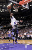 Ben McLemore of the Sacramento Kings dunks against the Phoenix Suns on April16 2014 at Sleep Train Arena in Sacramento California NOTE TO USER User...