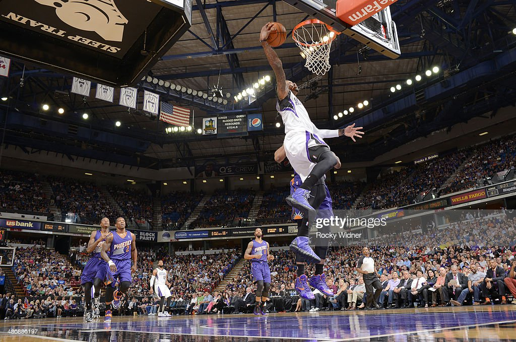 <a gi-track='captionPersonalityLinkClicked' href=/galleries/search?phrase=Ben+McLemore&family=editorial&specificpeople=9966388 ng-click='$event.stopPropagation()'>Ben McLemore</a> #16 of the Sacramento Kings dunks against the Phoenix Suns on April16, 2014 at Sleep Train Arena in Sacramento, California.