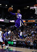 Ben McLemore of the Sacramento Kings goes up for a dunk against the Memphis Grizzlies at Sleep Train Arena on February 25 2015 in Sacramento...