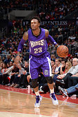 Ben McLemore of the Sacramento Kings handles the ball against the Los Angeles Clippers during a game on November 2 2014 at STAPLES Center in Los...