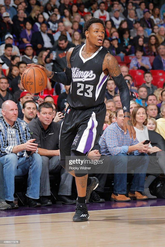 Ben McLemore of the Sacramento Kings handles the ball against the Chicago Bulls on November 20 2014 at Sleep Train Arena in Sacramento California...