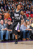 Ben McLemore of the Sacramento Kings handles the ball against the Chicago Bulls on November 20 2014 at Sleep Train Arena in Sacramento California...