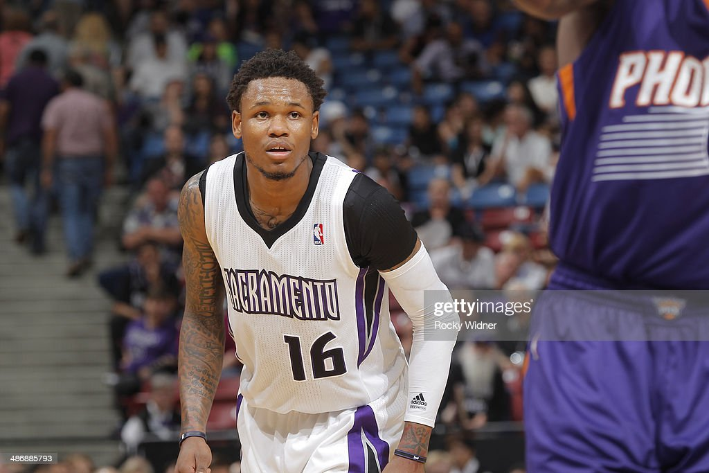 Ben McLemore of the Sacramento Kings in a game against the Phoenix Suns on April16 2014 at Sleep Train Arena in Sacramento California NOTE TO USER...