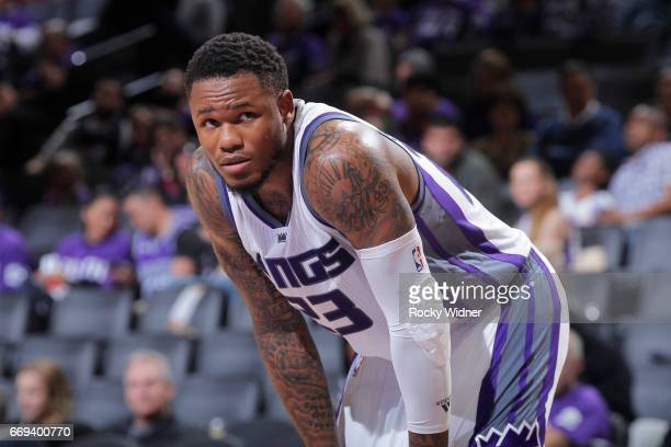 Ben McLemore of the Sacramento Kings looks on during the game against the Phoenix Suns on April 11 2017 at Golden 1 Center in Sacramento California...