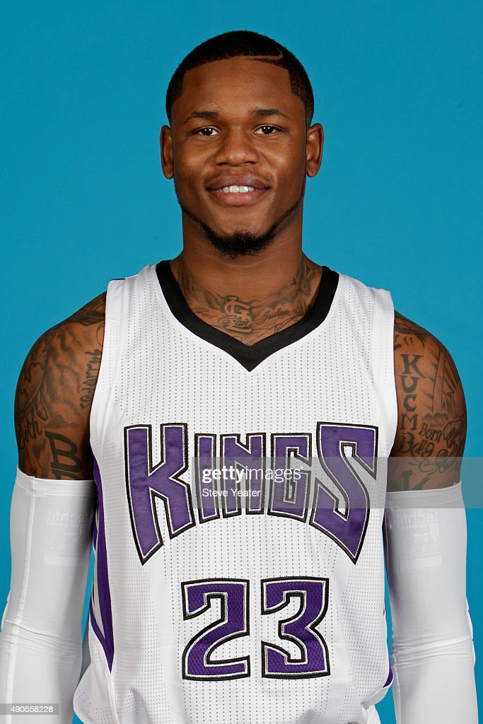 Ben McLemore of the Sacramento Kings poses for a head shot on media day September 28 2015 at the Kings practice facility in Sacramento California...