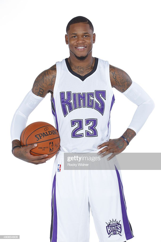 Ben McLemore of the Sacramento Kings poses for a photo on media day September 28 2015 at the Kings practice facility in Sacramento California NOTE TO...