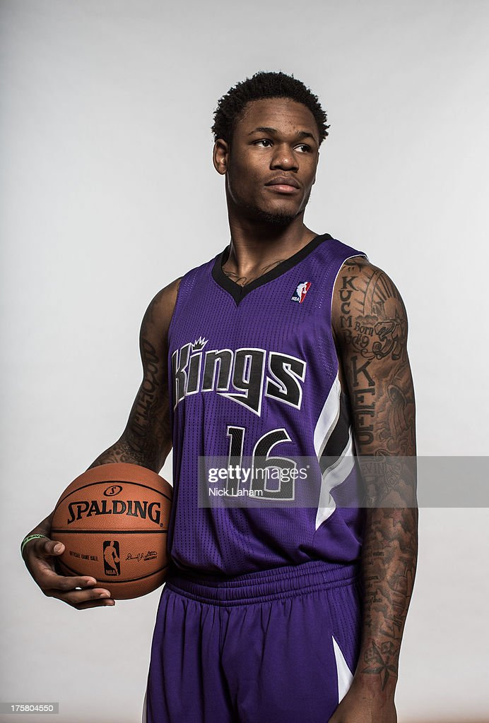 Ben McLemore #16 of the Sacramento Kings poses for a portrait during the 2013 NBA rookie photo shoot at the MSG Training Center on August 6, 2013 in Greenburgh, New York.