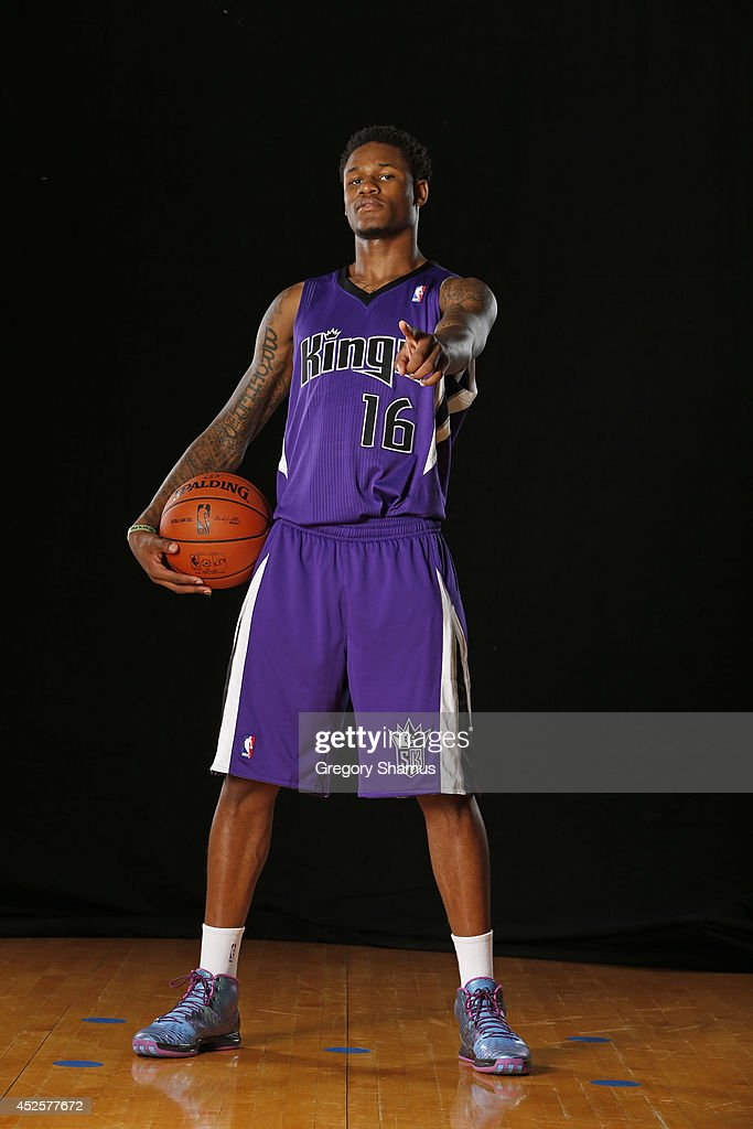 Ben McLemore #16 of the Sacramento Kings poses for a portrait during the 2013 NBA rookie photo shoot on August 6, 2013 at the Madison Square Garden Training Facility in Tarrytown, New York.